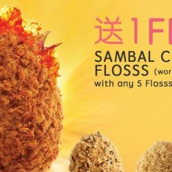 BreadTalk: Enjoy 1 Free Sambal Chicken Flosss with any 5 Flosss purchased