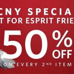 Esprit: CNY Special For Esprit Friends - 50% OFF 2nd Item Storewide