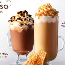 Starbucks: NEW Salted Caramel Mocha Crumble & Golden Sesame Caramel Crunch Latte
