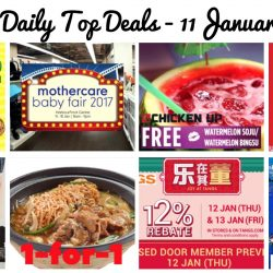 BQ's Daily Top Deals: Mothercare Baby Fair 2017, Subway $5.90 Value Meals, 1-for-1 Claypot Dish, Robinsons CNY Expo Sale, Tangs 12% Rebate, 50% OFF at Levi's & More!