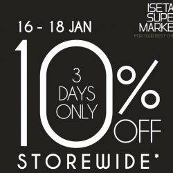 Isetan: Enjoy a 10% Direct Discount at Isetan Supermarket