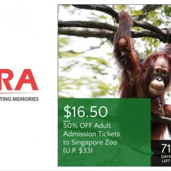 Safra: Enjoy 50% off Adult admission tickets to Singapore Zoo!