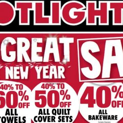 Spotlight: The Great CNY Sale Up to 60% OFF All Sheets, Towels, Quilt Cover Sets, Bakeware, Cookware & More!