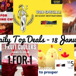 BQ's Daily Top Deals: Qoo10 $12 coupon, Scoot UOB 20% OFF, SQ Promo Fare to Bangkok from $188, 1-for-1 Costa Coffee Cooler, 1-for-1 Pizza Hut Lunch & Supermarket Opening Hours During CNY!