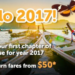 Tigerair: Airfare Promotion All-in Return Fares from $50 to Kuala Lumpur, Phuket, Krabi, Bangkok, Bali, Maldives & more