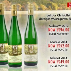 [The Oaks Cellars] SHOP NOW!Enjoy 20% Off on Joh Jos Christoffel Uerziger Wuerzgarten Riesling.Exclusively Online For A Limited Time Only!http://