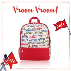 [Cath Kidston Singapore] Watch this thing fly off our shelves! Our Things That Go Fast Kids Backpack packs every kid's wildest automobile