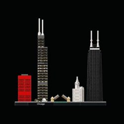 [The Brick Shop] Capture the architectural essence of Chicago with this magnificent set that brings together the iconic Willis Tower™, John Hancock Center,