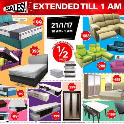 [FULL HOUSE HOME FURNISHINGS] HAPPENING THIS SATURDAY NIGHT!! 😱  EXTENDED TILL 1AM!! SALES!!!! 😱 😱😱21ST Jan 2017, TILL 1AM ! 😱Blk 114 Aljunied Avenue 2, Level 2,