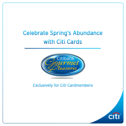 [Citibank ATM] Forget about the calorie count and indulge in yummy sweet treats this Lunar New Year. Enjoy an abundance of delicious