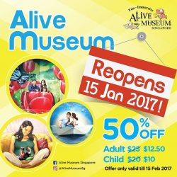 [Alive Museum Singapore] Hello everyone, Alive Museum Singapore apologises for the inconvenience caused recently. We will like to update that Alive Museum Singapore
