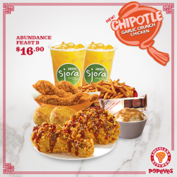 [Popeyes Louisiana Kitchen Singapore] Admit it, you love the heat. Even in this Chinese New Year scorching weather.And this deal loves you back