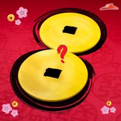[Pizza Hut Singapore] Ushering more prosperity and FORTUNE for all this new year, packed in mega-sized Hong Baos! Guess what is our