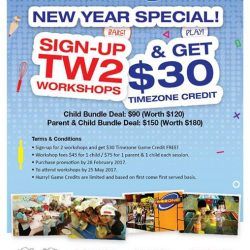 [WESTGATE KIDS CLUB POWERED BY GENIUS R US] Have a Happy New Year with our awesome bake and play deal. Simply sign up for 2 workshops before 28