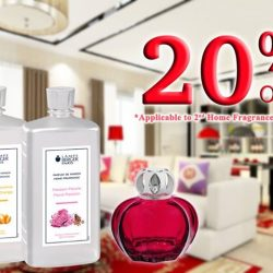[Lampe Berger] Usher in wealth and prosperity this Lunar New Year with the unique Lampe Berger Fragrances. Enjoy 20% off second purchase