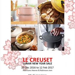 [Le Creuset] The Le Creuset Robinsons Lunar New Year Sale is now on! With Sugar Pink, Dijon, Dune and Midnight Grey to