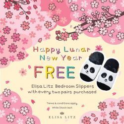 [Elisa Litz] Usher in the new year with this pair of super adorable panda bedroom slippers!Receive a complimentary pair from us