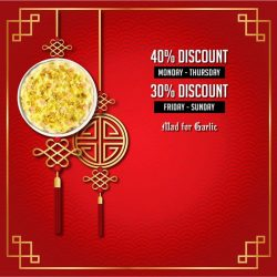 [Mad for Garlic] Chinese New Year celebration has started early at Mad for Garlic. From 16 Jan to 13 Feb 2017, to celebrate