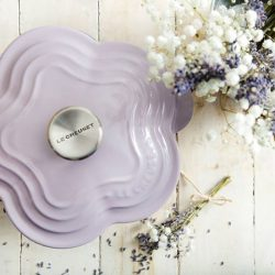 [Le Creuset] Le Creuset Flower Casserole now blossoming in stores, and in a myriad of colours. All in time to usher in
