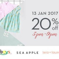 [Chateau de sable] Time to start shopping for the kiddos! Remember to join us this Friday 13th Jan at Great World City for