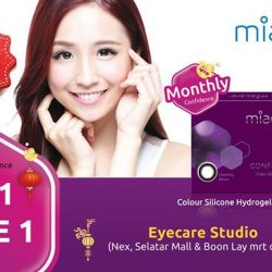 [Eyecare Studio Optometrist] Do you know that Miacare Confidence is made of Silicone Hydrogel polymers which give high oxygen flow to your eyes,