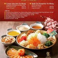 [Sushi Tei] Toss your way to abundance & prosperity this lunar new year with Sushi Tei's Prosperity Yusheng.Freshly air-flown Norwegian