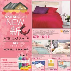 [NEX] Come to the Akemi Uchi Singapore Atrium Sale at NEX L1 from now till 15 Jan, Sunday. Usher in a