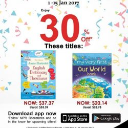 [MPH] Exclusive MPH Offer On Parkway Parade App30% off Usborne Junior Illustrated English Dictionary and Thesaurus & My Very First Our