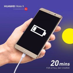 [HuaWei] Impressed yet? We certainly are. With just 20 minutes of charging, enjoy a full day's use with the #HuaweiMate9'