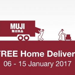 [MUJI to GO] FREE HOME DELIVERY is ongoing till this Sunday, 15 January 2017. Now's the perfect time to buy that piece