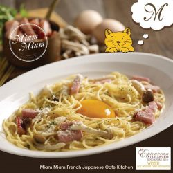 "[Miam Miam French.Japanese Cafe.Kitchen] HAVE A FREE MAIN COURSE ON US! <3Does your initials contain the alphabet ""M""? If your answer is Yes.."