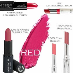 [Bud Cosmetics] Welcome the New Year with a touch of natural red on your lips! Check out the wide range of organic