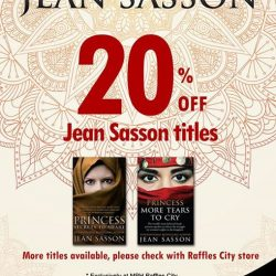 [MPH] Jean Sasson Promotion Exclusively to MPH Raffles City Singapore20% off Jean Sasson titles Promotion valid from 1 - 31 January