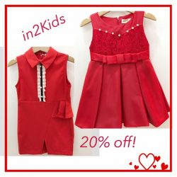 [IN2Kids] Red Alert Deals!!!! These exclusive red pieces are going at 20% off! Sizes available for 2-7yrs old! Grab them