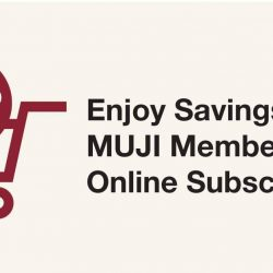 [MUJI Singapore] Enjoy More Savings with MUJI Members' Week! Learn more: https://goo.gl/vUDBhF