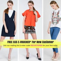 [Moss Fashion] Get a free S$5 E-voucher *1. Just register a New account and join our mailing list @www.mossfashion.