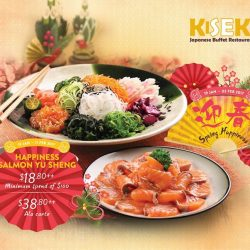 [Kiseki Japanese Buffet Restaurant] Toss to a Good Fortune with our Happiness Salmon Yu Sheng which is available at ^$18++ from 19 January to