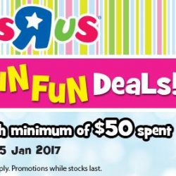 [Babies'R'Us] Last day to get your Fun Fun deals at http://bit.ly/2iWlkoD! Free shipping with min. $50 purchase.