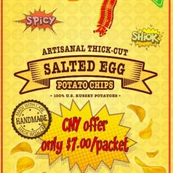 [Tip Top] SALTED EGG POTATO CHIPS!! CNY PROMO! Limited Stock!!!Grab our Limited Stock Handmade Salted Egg Potato Chips at our Raffles