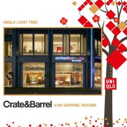 [Uniqlo Singapore] Stand to win a $188 Crate & Barrel Shopping Voucher* and many more prizes when you play UNIQLO Lucky Tree sure-