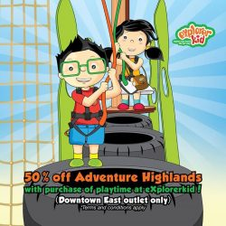 [eXplorerkid] It's half the price, double the adventure on all weekends from 14-29 Jan! Enjoy 50% off Adventure Highlands