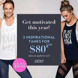 [Lorna Jane] Online and showroom offer from today till the 19th! Get 2 inspirational tanks online for US$80 via lorna.link/