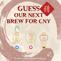 [KOI Café Singapore] Guess our next brew for Chinese New Year! Hint1: The FRUIT best represent Chinese New Year. Hint2: PPAP maybe? Hint3:
