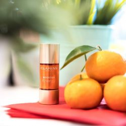 [Clarins] Do you know why oranges and tangerines are a must-have during Chinese New Year? It's because tangerines represent
