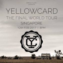 [SISTIC Singapore] Floridian rockers Yellowcard will release their final album, simply titled Yellowcard, on 30 September 2016 via Hopeless Records. The band