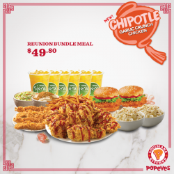 [Popeyes Louisiana Kitchen Singapore] Show off your new Mexican love to your relatives this Chinese New Year.Get this deal before they fall in