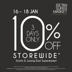 [Isetan] Enjoy a 10% Direct Discount when you stock up for this Lunar New Year at Isetan Supermarket. T&Cs apply.