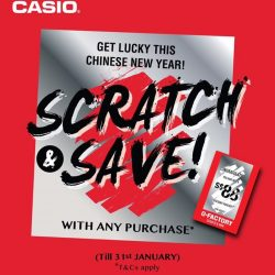 [Casio Timepiece Singapore] Enjoy a great start to the year with G-Factory! Receive instant discounts with every purchase* from now till 31