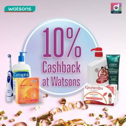 [Watsons Singapore] Here's a New Year treat exclusively for Singtel Dash users… Shop and pay with Dash to enjoy 10% Cashback