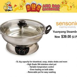 [Gain City] Save up to $30 with this 5L steamboat which will be retailing at just $39 (U.P. $69)! The Gain